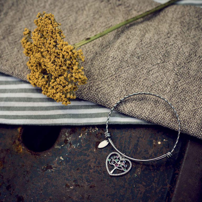 Life albero della vita ottone acciaio zirconi