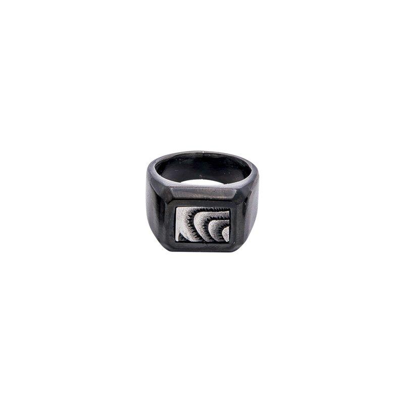 Awesome anello acciaio ip nero