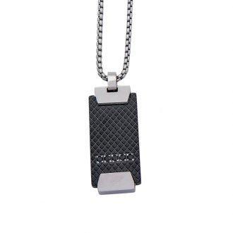 Awesome collana acciaio ip nero