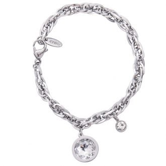 Beauty bracciale acciao cristalli