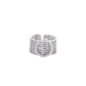 Funny anello ottone zircone