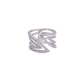 Glitter anello ottone zircone