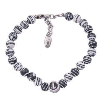 Stones bracciale acciaio pietre dure smalto