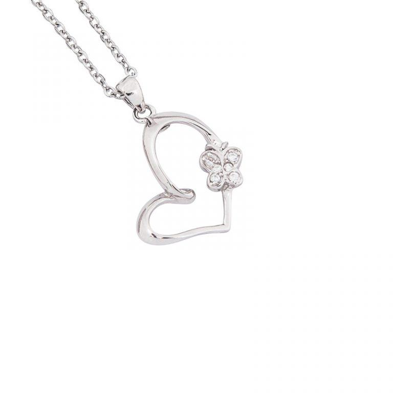 Sweetheart ciondolo argento zircone