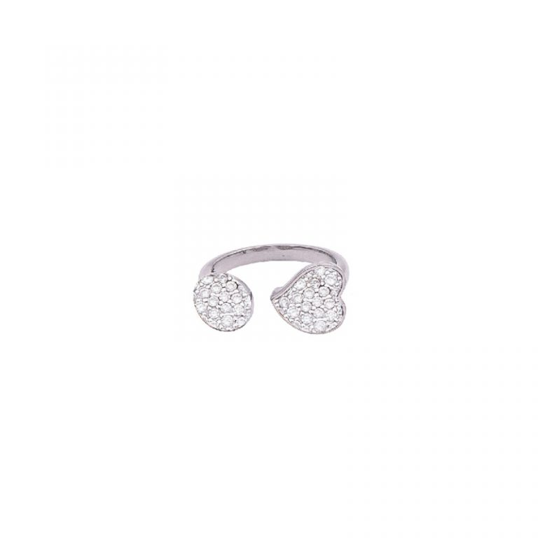 Together anello ottone zircone