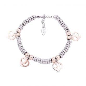 Bracciale Clizia in acciaio con galvanica bicolore B10065 4 You Jewels