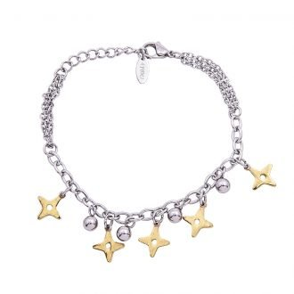 Bracciale Marylou in acciaio con galvanica bicolore B10024 4 You Jewels