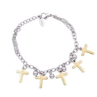 Bracciale Marylou in acciaio con galvanica bicolore B10025 4 You Jewels