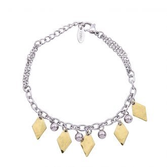 Bracciale Marylou in acciaio con galvanica bicolore B10027 4 You Jewels