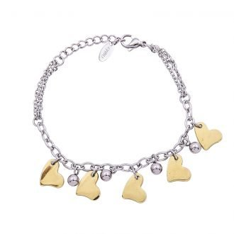 Bracciale Marylou in acciaio con galvanica bicolore B10028 4 You Jewels