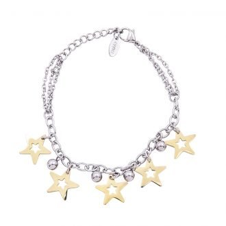 Bracciale Marylou in acciaio con galvanica bicolore B10029 4 You Jewels