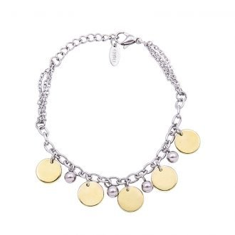Bracciale Marylou in acciaio con galvanica bicolore B10030 4 You Jewels