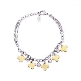 Bracciale Marylou in acciaio con galvanica bicolore B10031 4 You Jewels