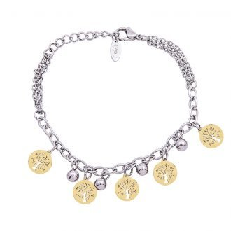 Bracciale Marylou in acciaio con galvanica bicolore B10032 4 You Jewels