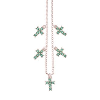 Collana Elly in argento rosè e zirconi N08900EP 4You Jewels