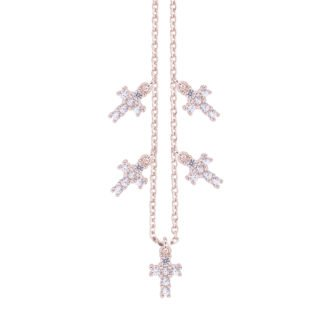 Collana Elly in argento rosè e zirconi N08900PP 4You Jewels