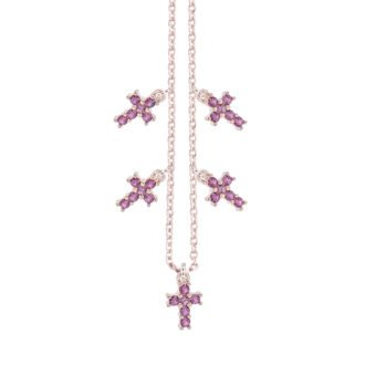 Collana Elly in argento rosè e zirconi N08900RP 4You Jewels