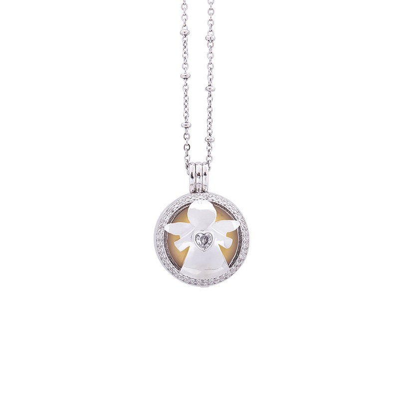 Lifesound-dolce-attesa-collana-chiama-angeli-Angelo-Cuore-KOT-P10216 For You Jewels