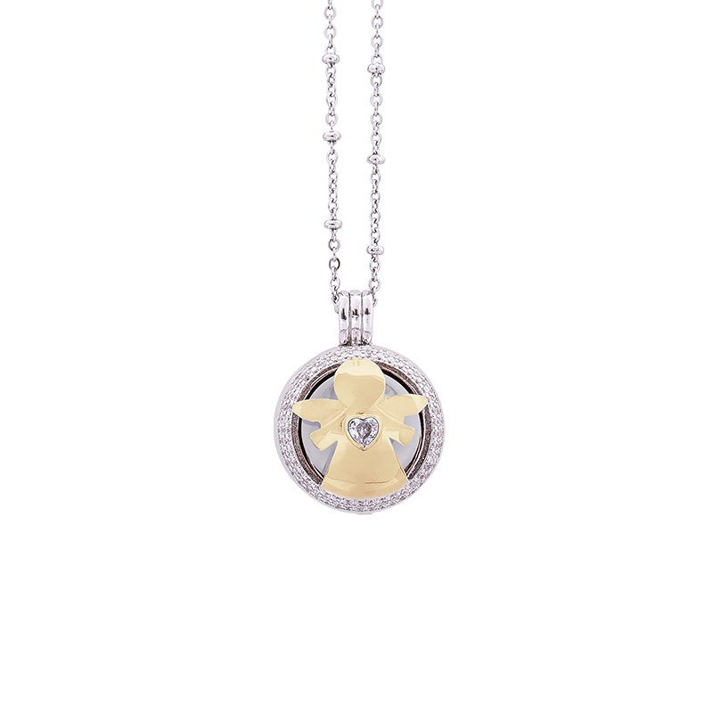 Lifesound-dolce-attesa-collana-chiama-angeli-Angelo-Cuore-KOT-P10216GW For You Jewels