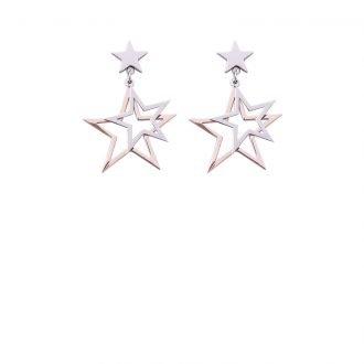 Orecchini Liz in acciaio con galvanica bicolore E10059 4 You Jewels