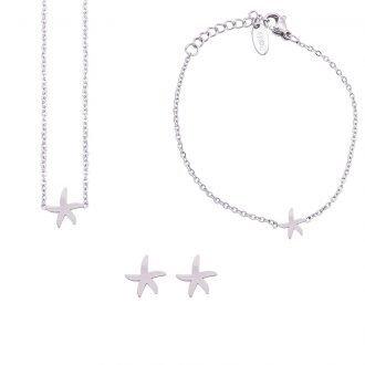 Parure Sharon bracciale collana e orecchini in acciaio ST10107 4 You Jewels