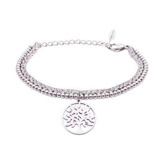 Bracciale Crystal in acciaio e cristalli Albero della Vita B10930 For You Jewels