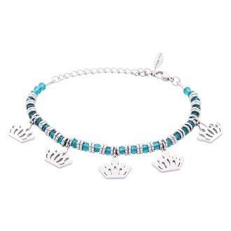Bracciale Crystal in acciaio e cristalli Corona B11161 For You Jewels