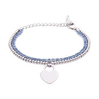 Bracciale Crystal in acciaio e cristalli Cuore B10938 For You Jewels