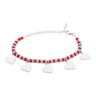 Bracciale Crystal in acciaio e cristalli Cuore B11164 For You Jewels