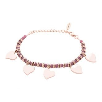 Bracciale Crystal in acciaio e cristalli Cuore B12060 For You Jewels