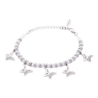 Bracciale Crystal in acciaio e cristalli Farfalla B11162 For You Jewels