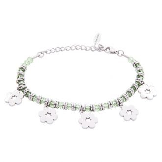 Bracciale Crystal in acciaio e cristalli Fiore B11159 For You Jewels