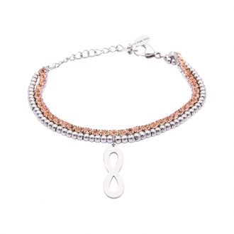 Bracciale Crystal in acciaio e cristalli Infinito B10943 For You Jewels
