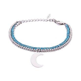 Bracciale Crystal in acciaio e cristalli Luna B10936 For You Jewels