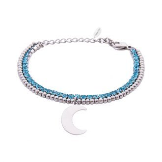 Bracciale Crystal in acciaio e cristalli Luna B10936 For You Jewels