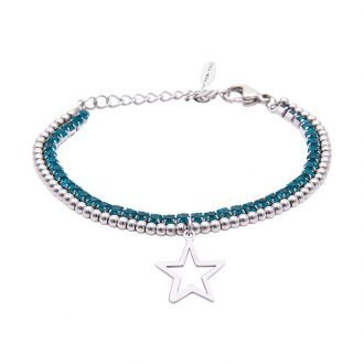 Bracciale Crystal in acciaio e cristalli Stella B10939 For You Jewels