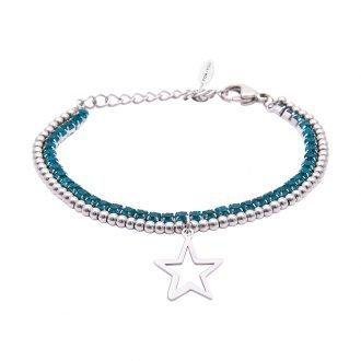 Bracciale Crystal in acciaio e cristalli Stella B10939 For You Jewels