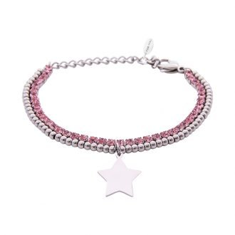 Bracciale Crystal in acciaio e cristalli Stella B10940 For You Jewels