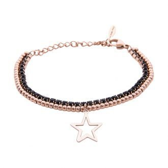 Bracciale Crystal in acciaio e cristalli Stella B10950 For You Jewels
