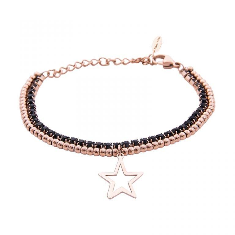 Bracciale Crystal in acciaio e cristalli Stella B10950 For You Jewels