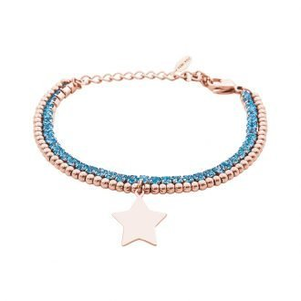 Bracciale Crystal in acciaio e cristalli Stella B10953 For You Jewels