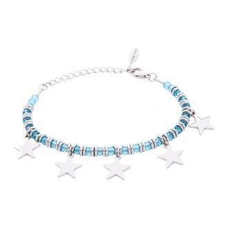 Bracciale Crystal in acciaio e cristalli Stella B11160 For You Jewels