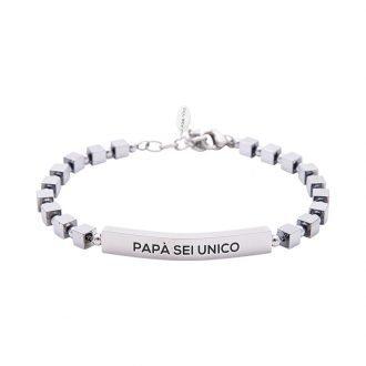 Bracciale Life is Papà in acciaio - Papà sei unico B10878 For You Jewels
