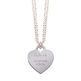 Collana Life Is Love in acciaio con medaglietta un amore infinito N10825 For You Jewels