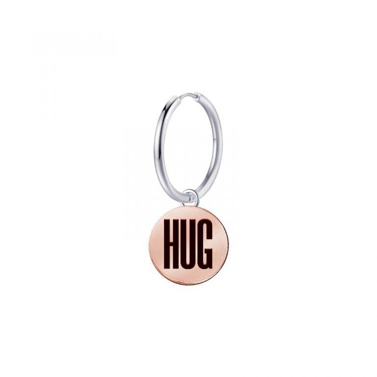 Mono Orecchino Mix and Match in acciaio - HUG E11132 For You Jewels