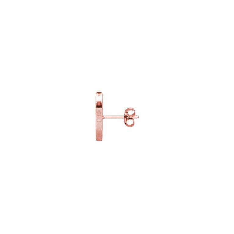 Mono orecchino Mix and Match in acciaio rosato vista laterale For You Jewels