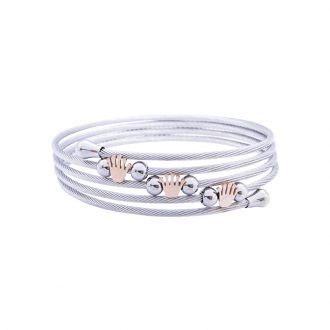Amy bracciale in acciaio con IP rosa B14177 4 You Jewels