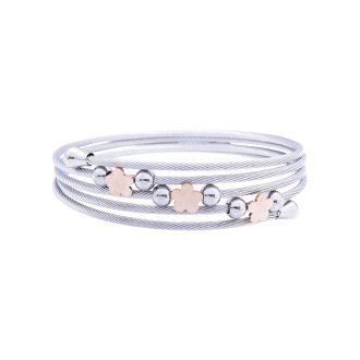 Amy bracciale in acciaio con IP rosa B14179 4 You Jewels