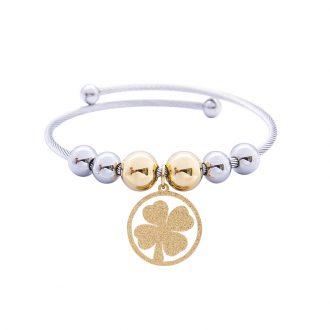 Babette bracciale in acciaio con IP oro B14302 4 You Jewels