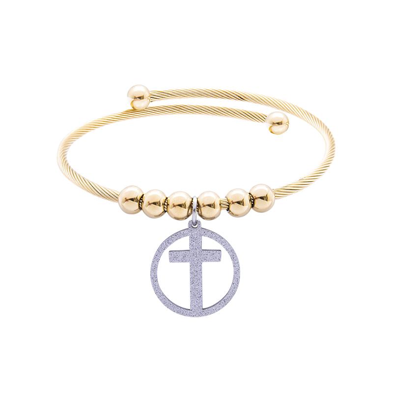 Babette bracciale in acciaio con IP oro B14305 4 You Jewels